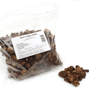 Venison : Deer Lung Cubes - Natural Dog Treats